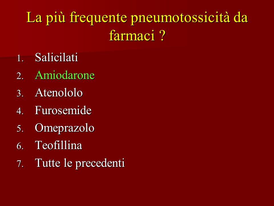 La più frequente pneumotossicità da farmaci