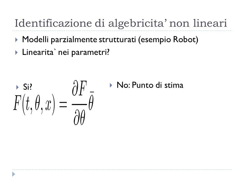 Identificazione di algebricita' non lineari
