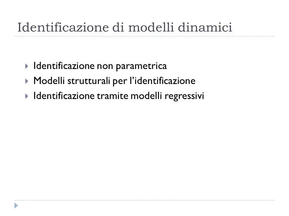 Identificazione di modelli dinamici