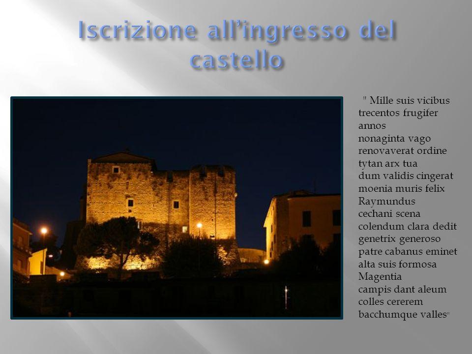 Iscrizione all'ingresso del castello
