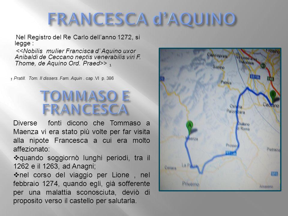 FRANCESCA d'AQUINO TOMMASO E FRANCESCA