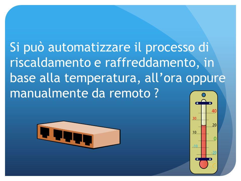 Si può automatizzare il processo di riscaldamento e raffreddamento, in base alla temperatura, all'ora oppure manualmente da remoto