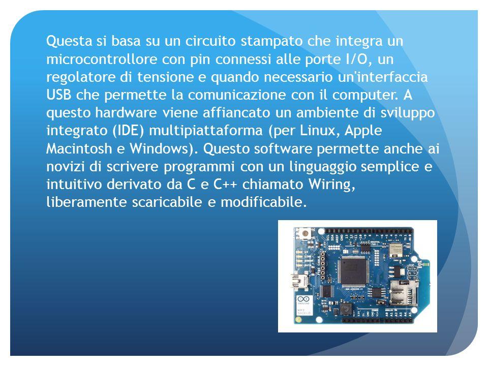 Questa si basa su un circuito stampato che integra un microcontrollore con pin connessi alle porte I/O, un regolatore di tensione e quando necessario un interfaccia USB che permette la comunicazione con il computer.