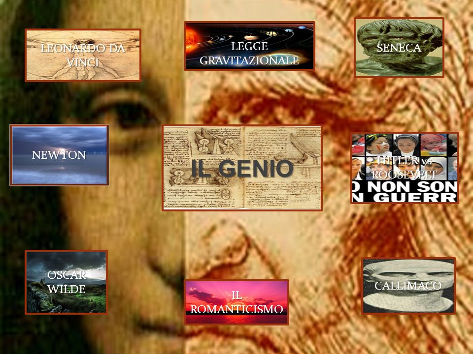 IL GENIO L'INTUIZIONE: LEGGE GRAVITAZIONALE SENECA LEONARDO DA VINCI