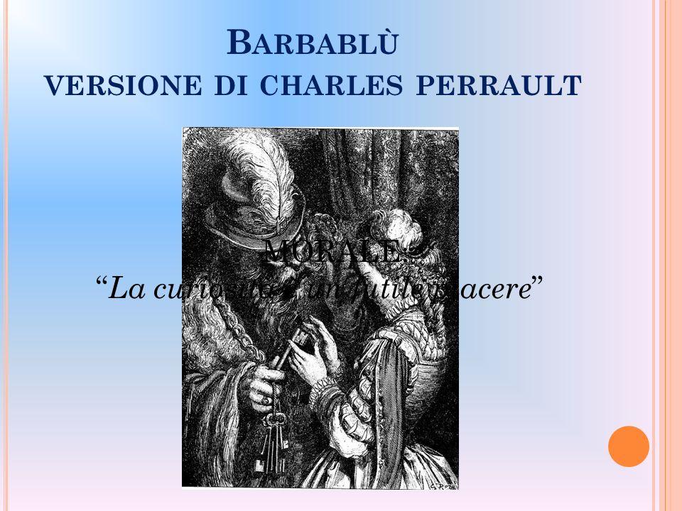 Barbablù versione di charles perrault