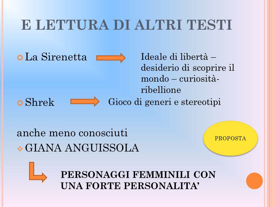 E LETTURA DI ALTRI TESTI