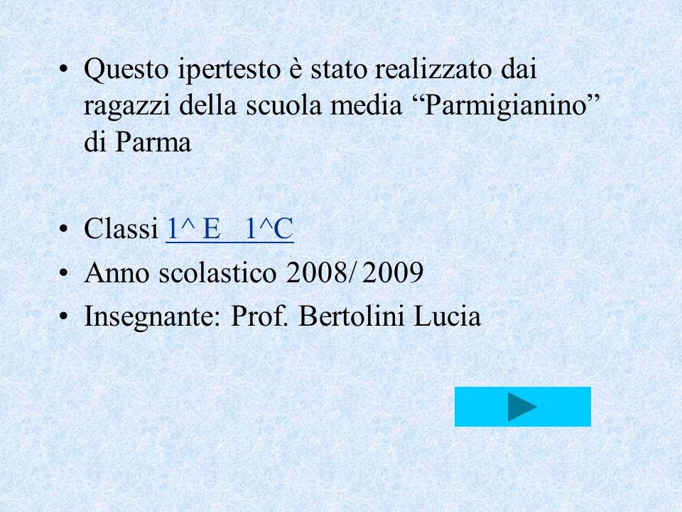Questo ipertesto è stato realizzato dai ragazzi della scuola media Parmigianino di Parma