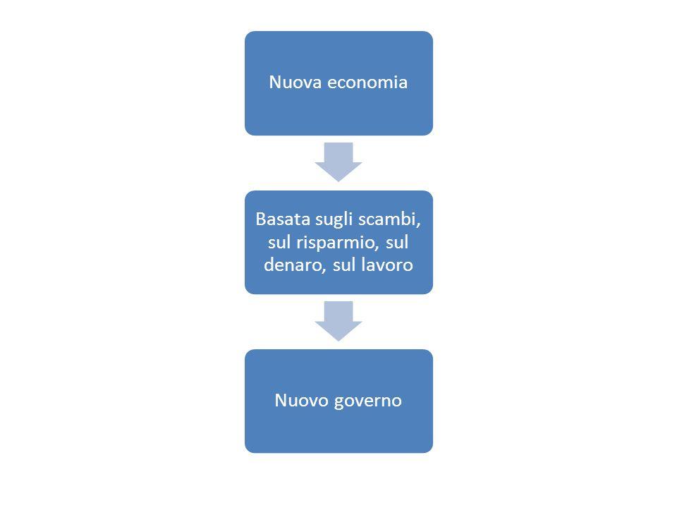 Basata sugli scambi, sul risparmio, sul denaro, sul lavoro