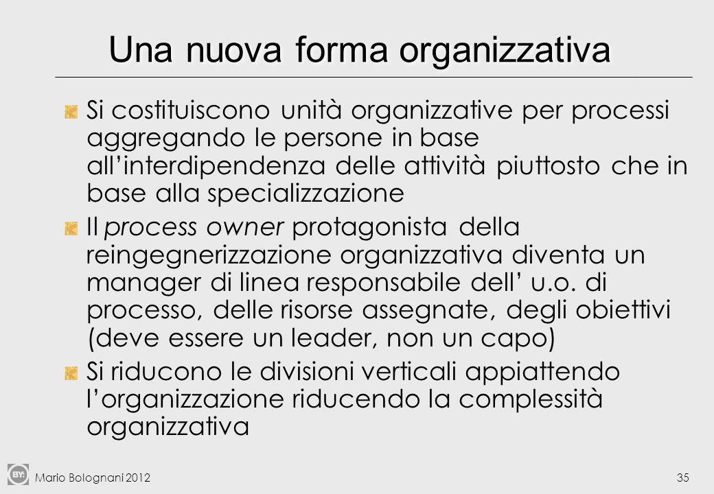 Una nuova forma organizzativa