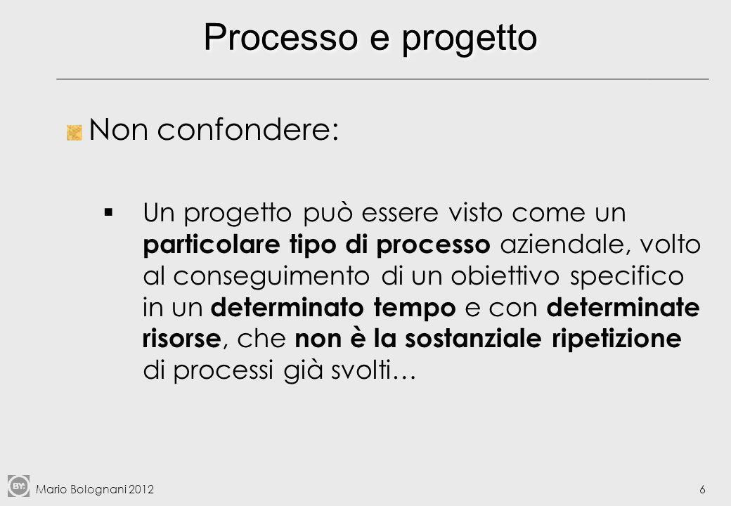Processo e progetto Non confondere:
