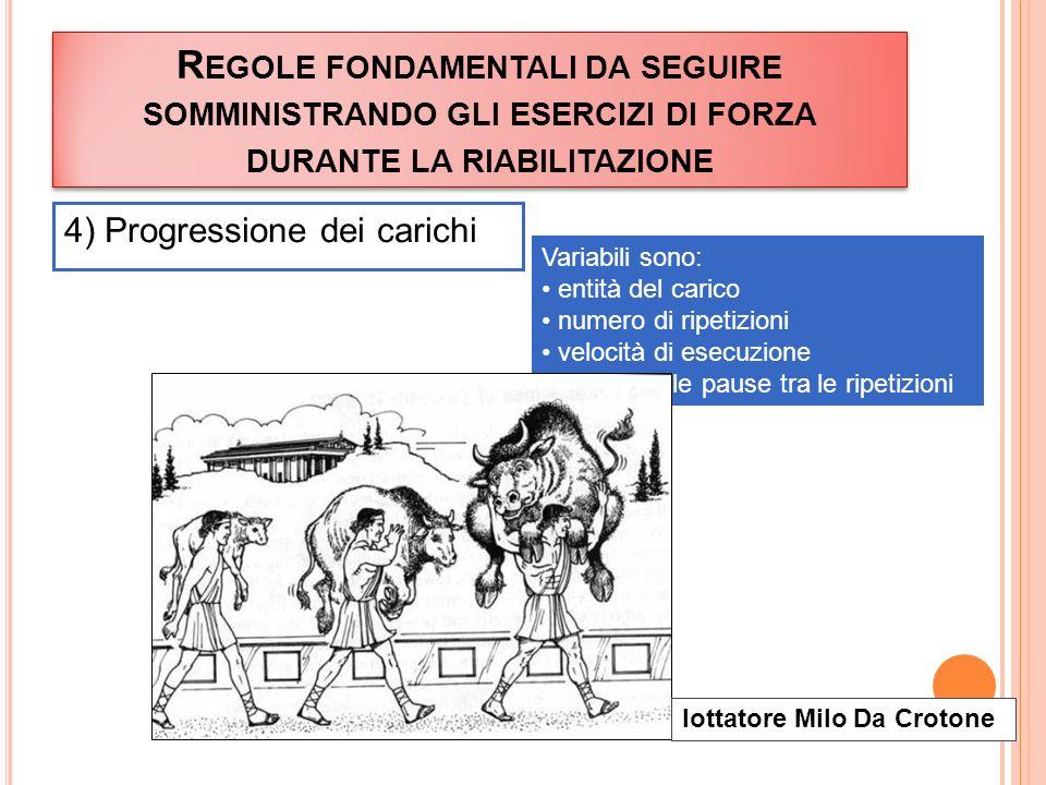 Regole fondamentali da seguire somministrando gli esercizi di forza durante la riabilitazione