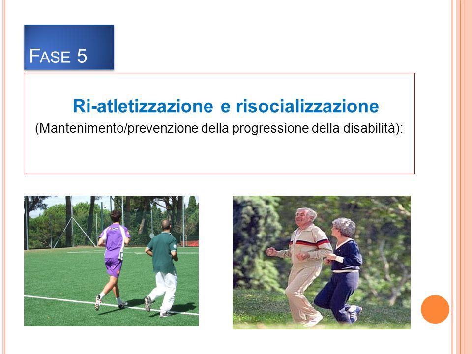 Fase 5 Ri-atletizzazione e risocializzazione