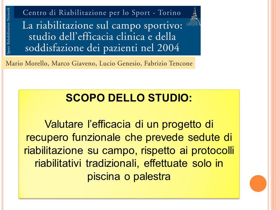 SCOPO DELLO STUDIO: