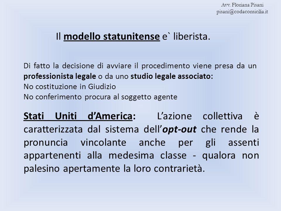 Il modello statunitense e` liberista.