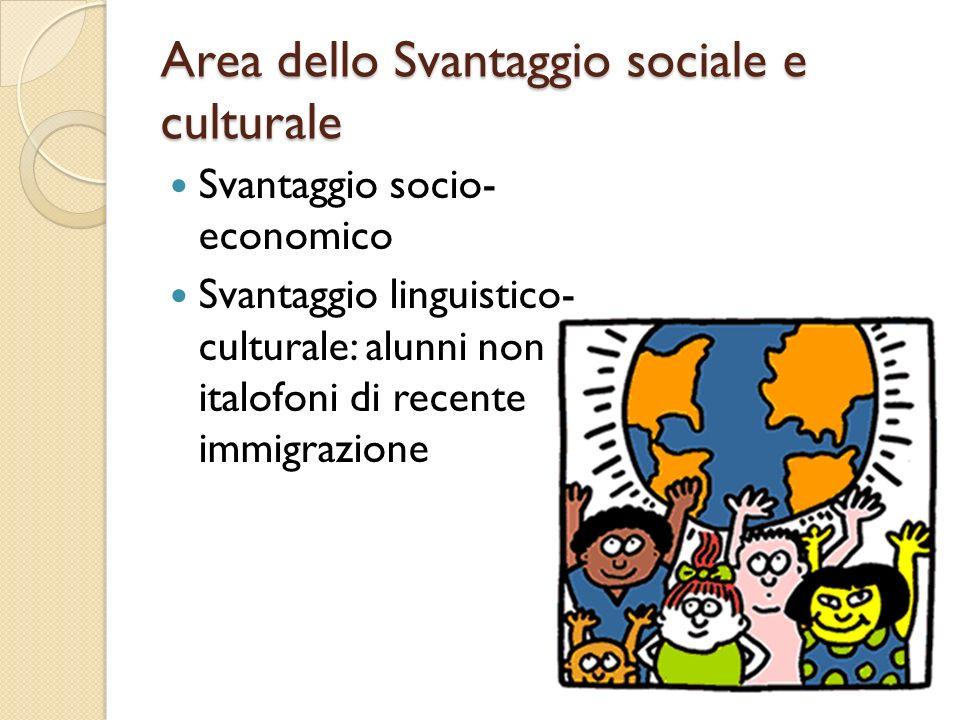 Area dello Svantaggio sociale e culturale