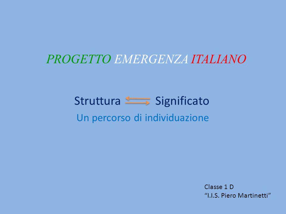 PROGETTO EMERGENZA ITALIANO