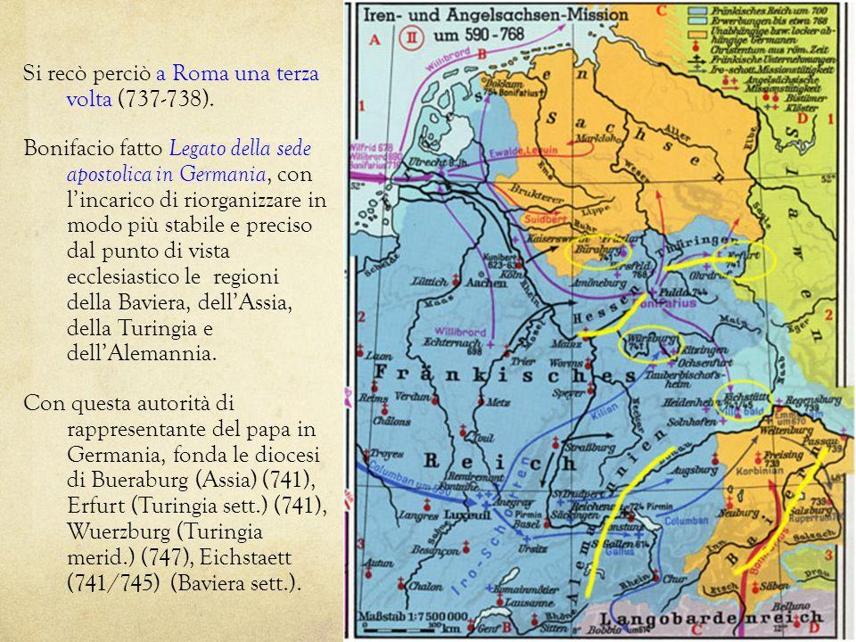 Si recò perciò a Roma una terza volta (737-738).