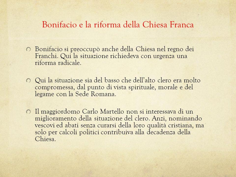 Bonifacio e la riforma della Chiesa Franca