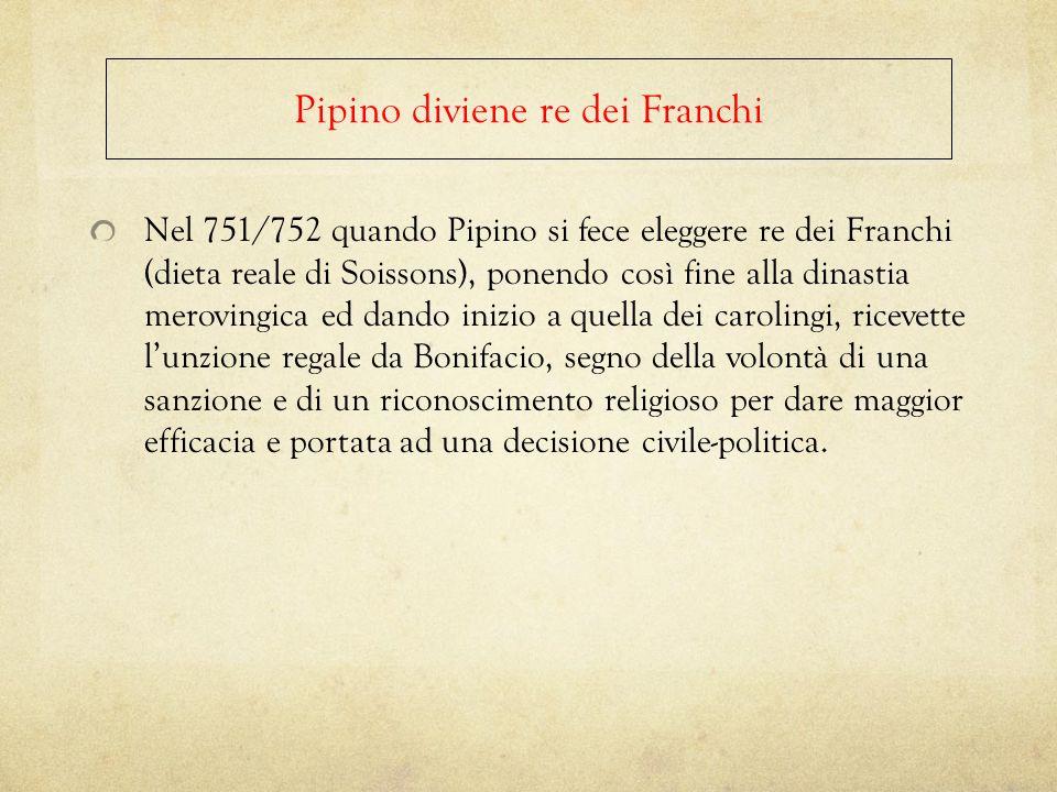 Pipino diviene re dei Franchi