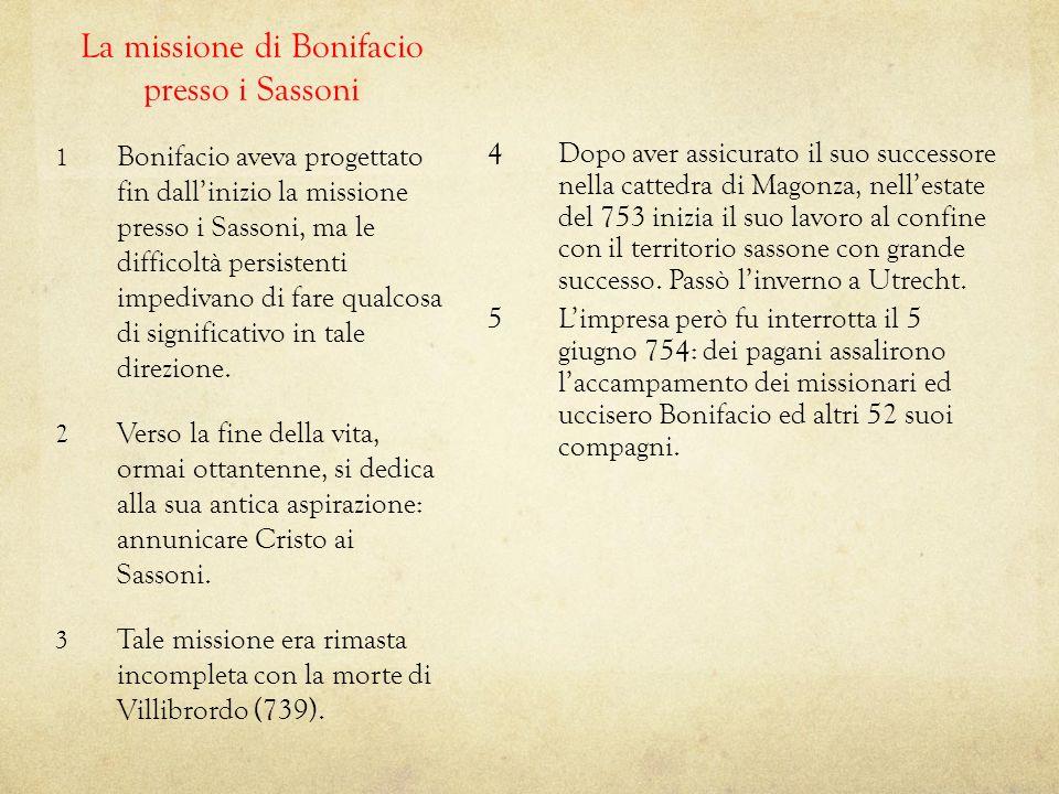 La missione di Bonifacio presso i Sassoni