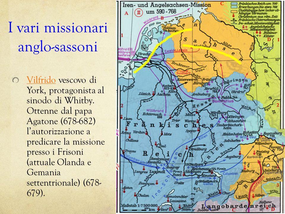 I vari missionari anglo-sassoni