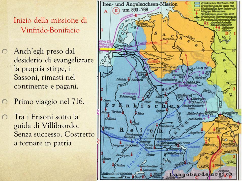 Inizio della missione di Vinfrido-Bonifacio