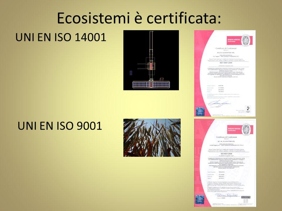 Ecosistemi è certificata: