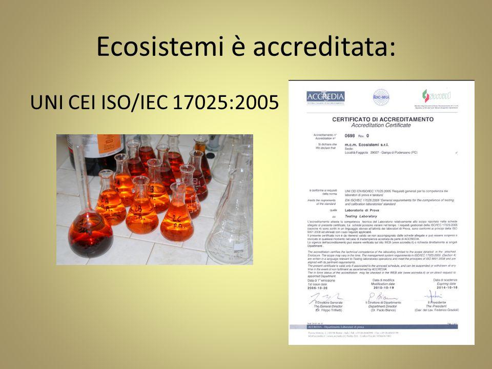 Ecosistemi è accreditata: