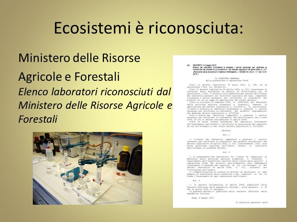 Ecosistemi è riconosciuta: