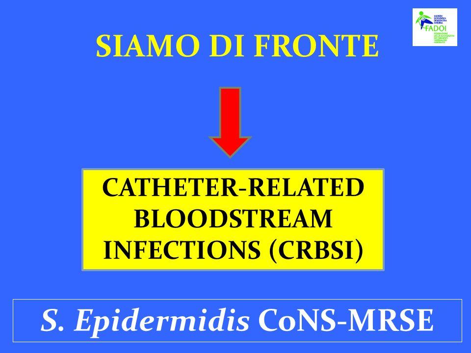 SIAMO DI FRONTE S. Epidermidis CoNS-MRSE