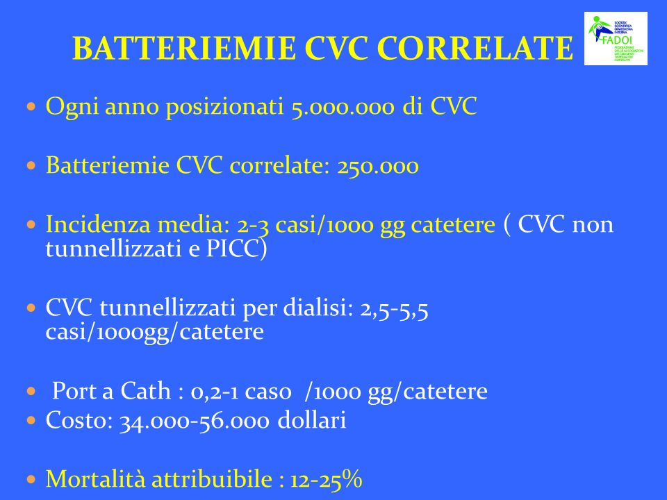 BATTERIEMIE CVC CORRELATE