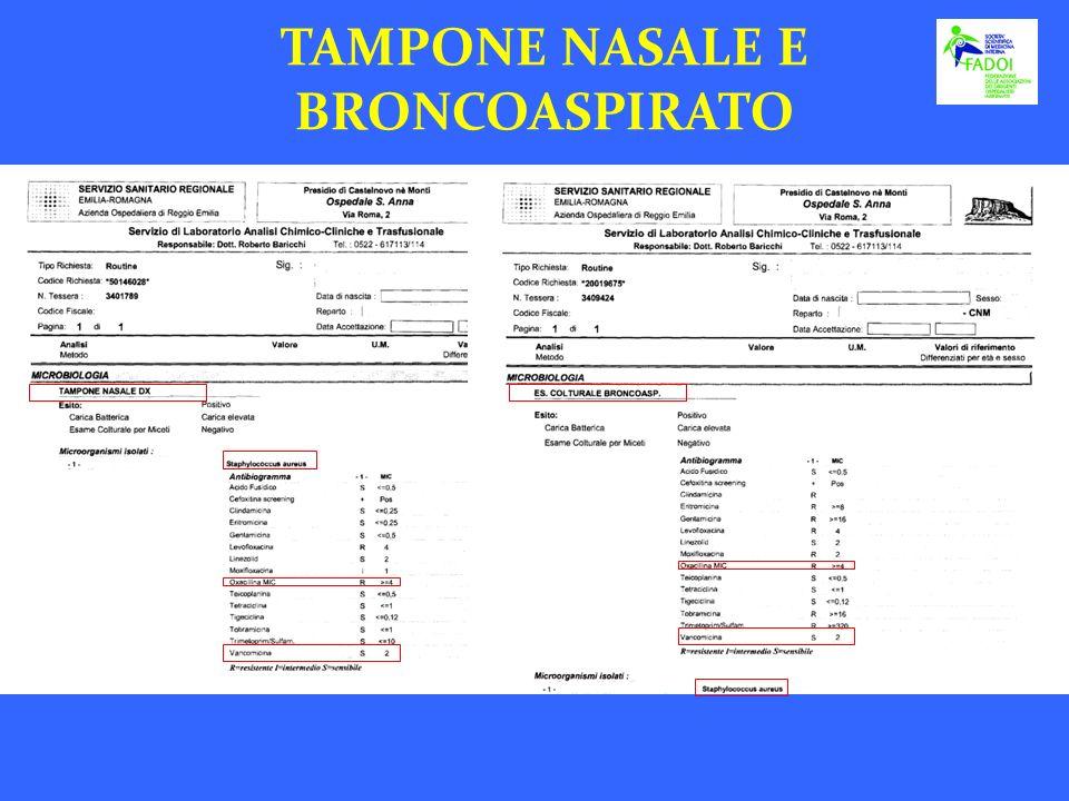 TAMPONE NASALE E BRONCOASPIRATO