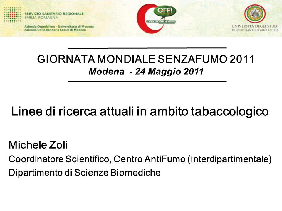 Linee di ricerca attuali in ambito tabaccologico