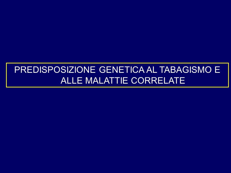 PREDISPOSIZIONE GENETICA AL TABAGISMO E ALLE MALATTIE CORRELATE