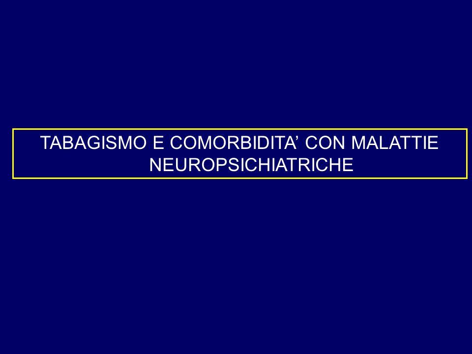 TABAGISMO E COMORBIDITA' CON MALATTIE NEUROPSICHIATRICHE