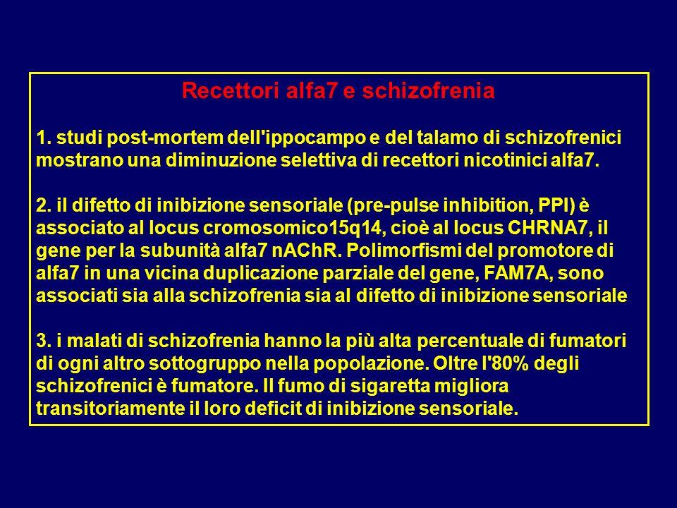 Recettori alfa7 e schizofrenia