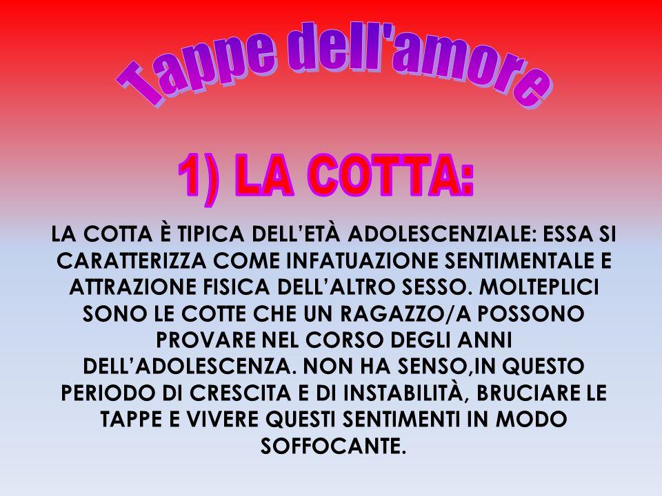 Tappe dell amore 1) LA COTTA: