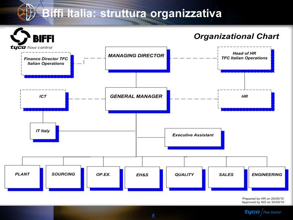 Biffi Italia: struttura organizzativa