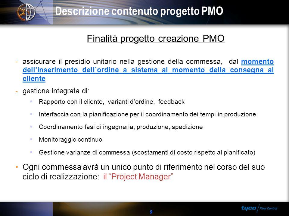 Descrizione contenuto progetto PMO