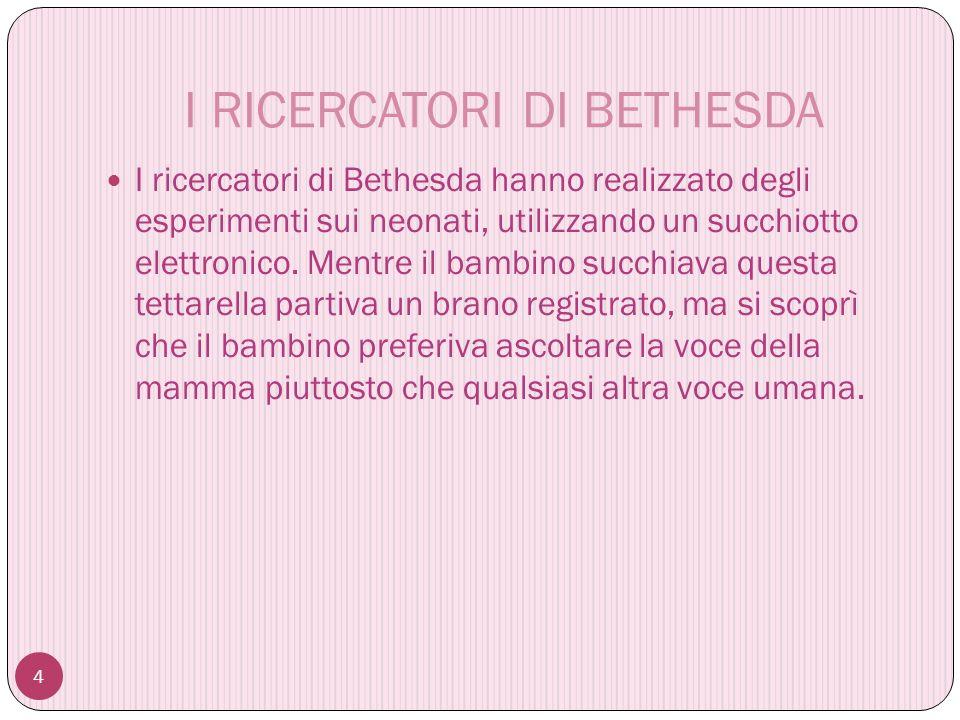 I RICERCATORI DI BETHESDA