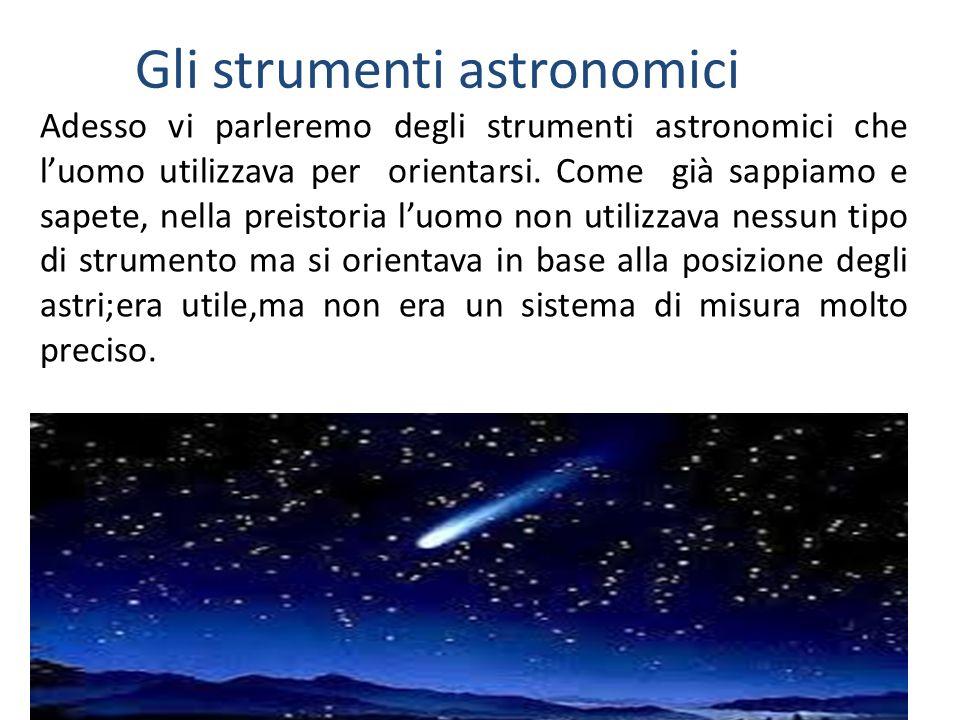Gli strumenti astronomici