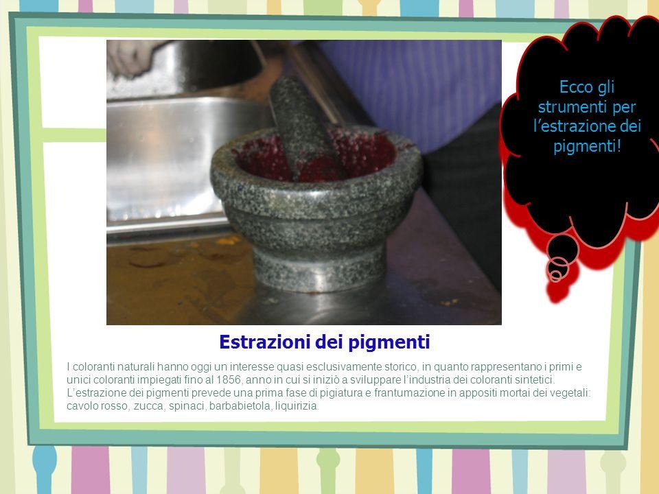 Estrazioni dei pigmenti