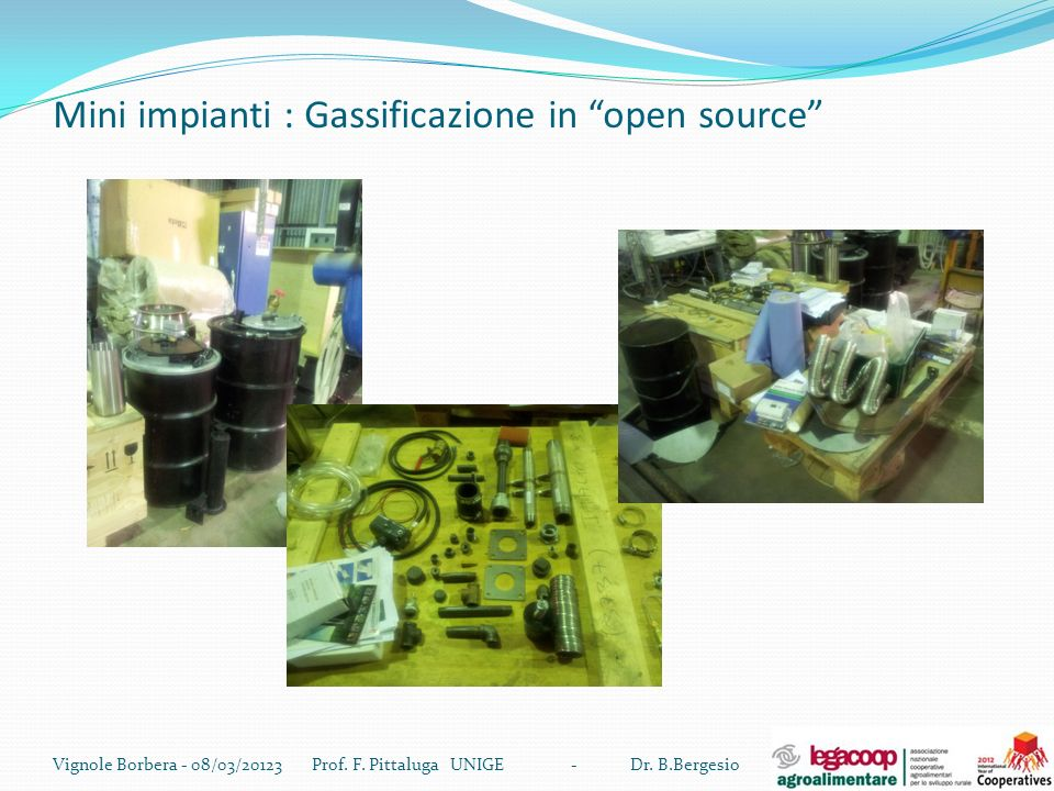 Mini impianti : Gassificazione in open source
