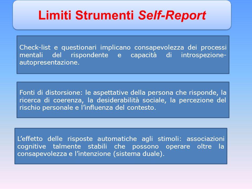 Limiti Strumenti Self-Report