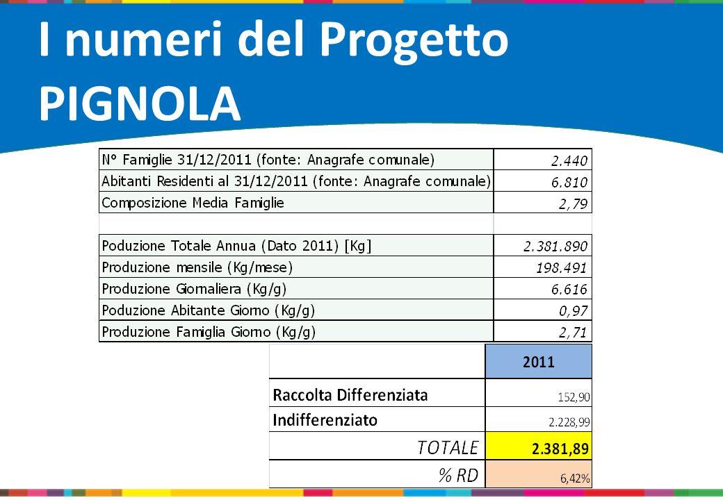 I numeri del Progetto PIGNOLA