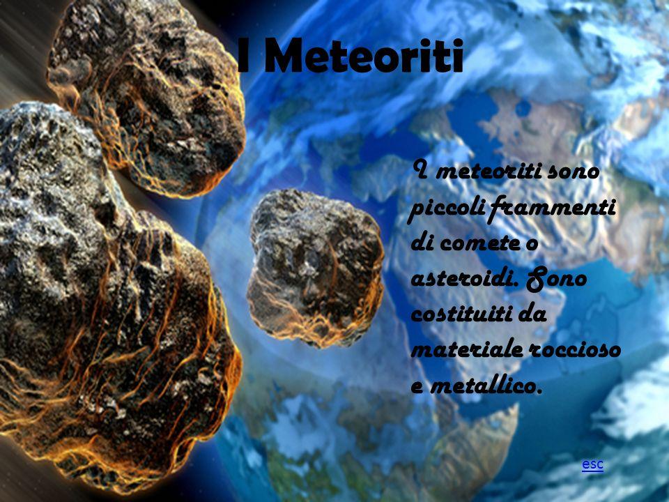 I Meteoriti I Meteoriti