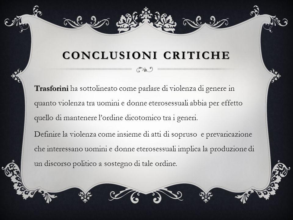 Conclusioni critiche