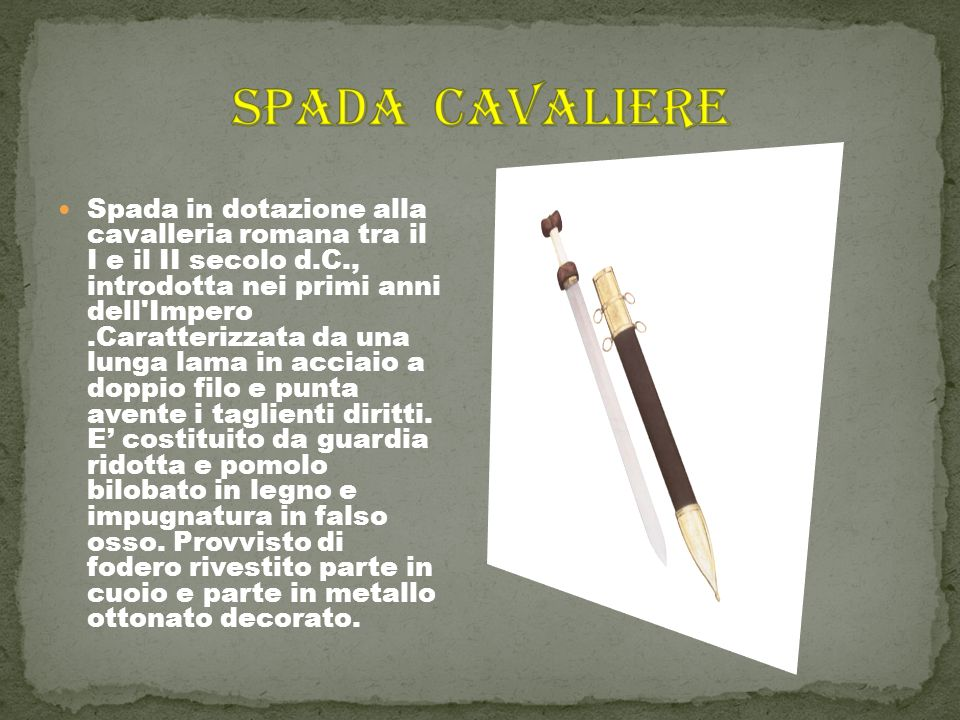 SPADA CAVALIERE