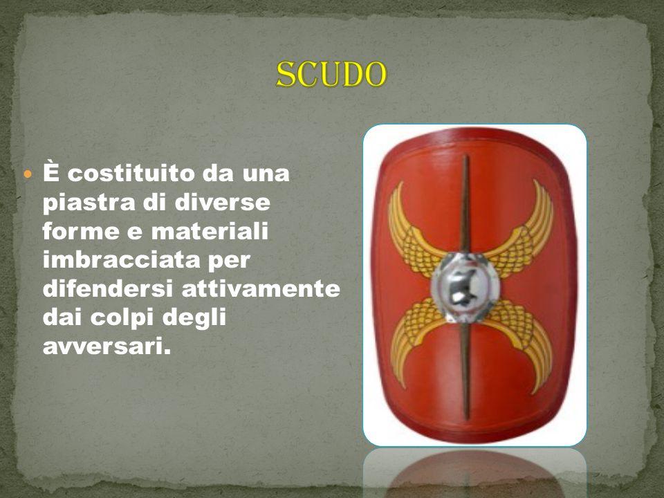 SCUDO È costituito da una piastra di diverse forme e materiali imbracciata per difendersi attivamente dai colpi degli avversari.