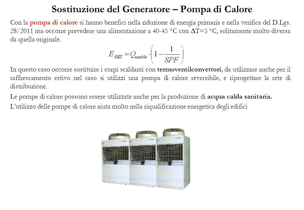 Sostituzione del Generatore – Pompa di Calore